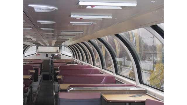 Amtrak Adirondack Dome Car - Interior