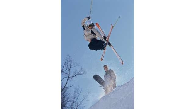 Skiing at Holiday Valley-Ski Jump