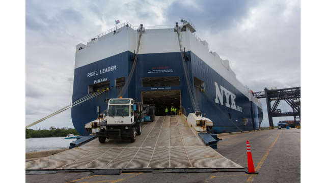 Image of NYK Line Rigel Leader at dock.