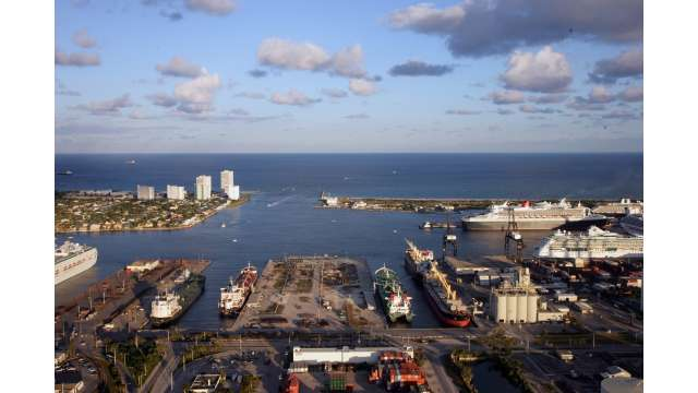Busy petroleum docks
