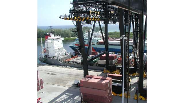 View from a gantry crane