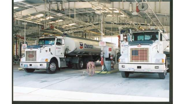 Fuel trucks loading