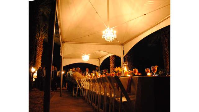 Date Night table trees dark