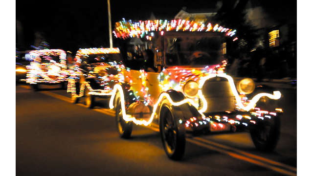 Float at Dorothy Young Memorial Electric Light Parade
