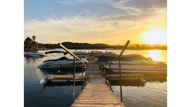 Fisher's Landing Dock at Sunset