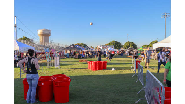 Giant Beer Pong at Rio de Cerveza Brew Fest in Yuma, Arizona
