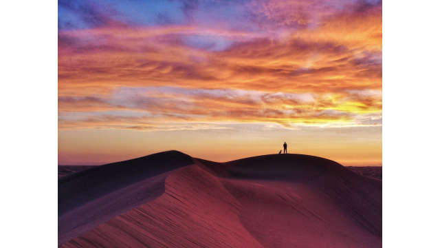 Imperial Sand Dunes at Dusk