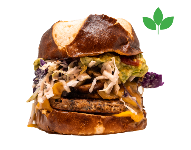 sprout and lentil burger