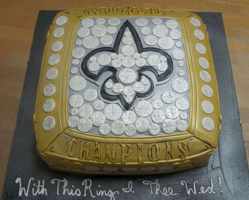 Saints Groom's Cake
