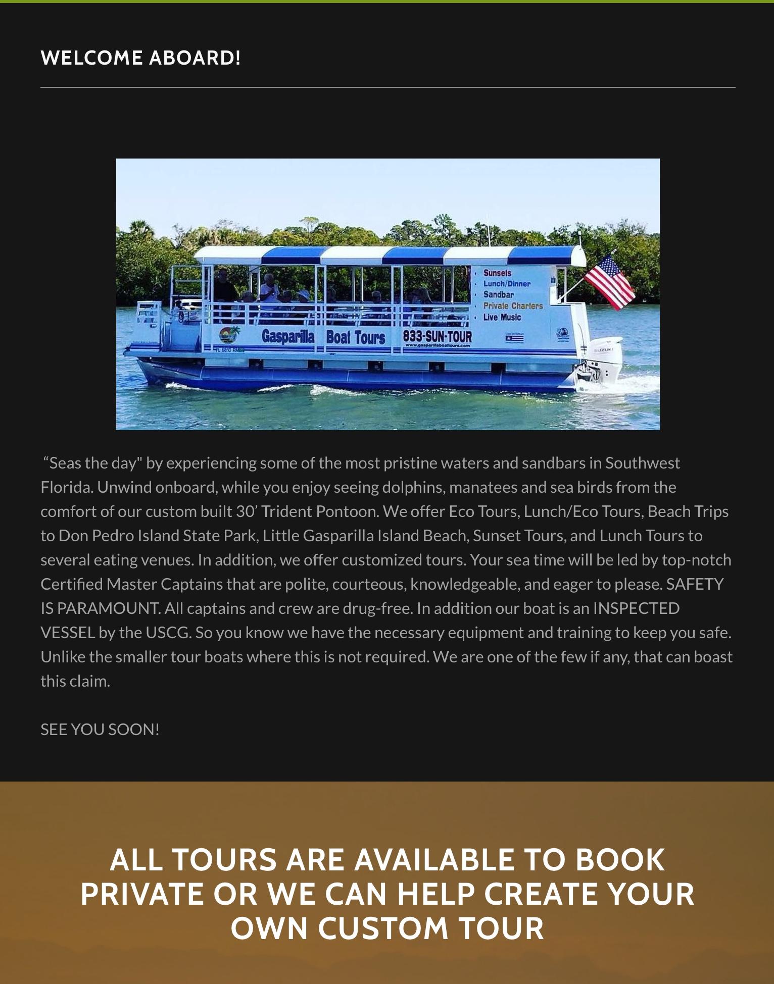 Gasparilla Boat Tours