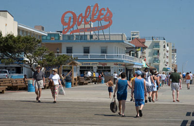 Rehoboth Avenue And Boardwalk