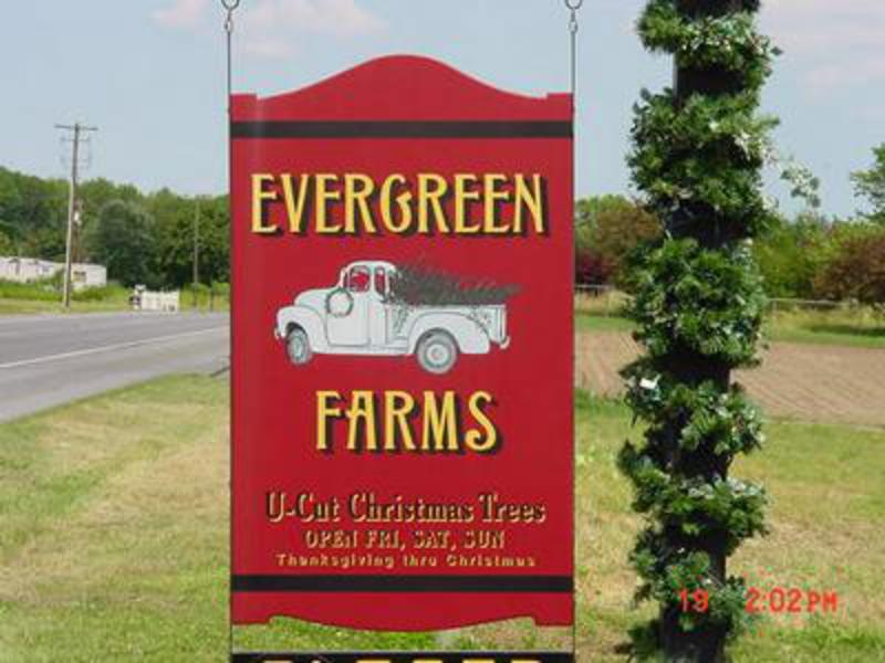 Christmas In Evergreen Truck.Evergreen Farms