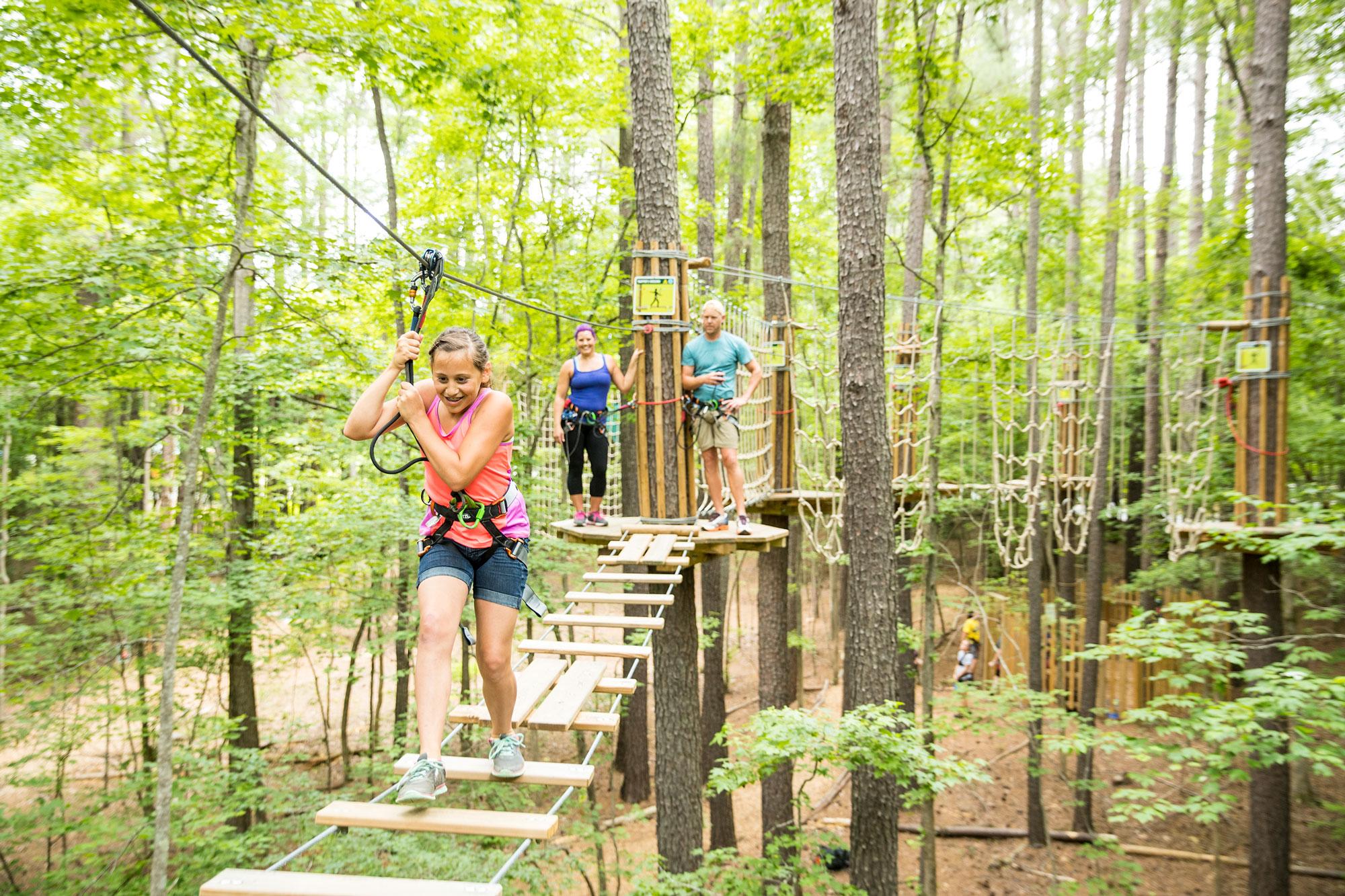 Go Ape Zip Line Treetop Adventure