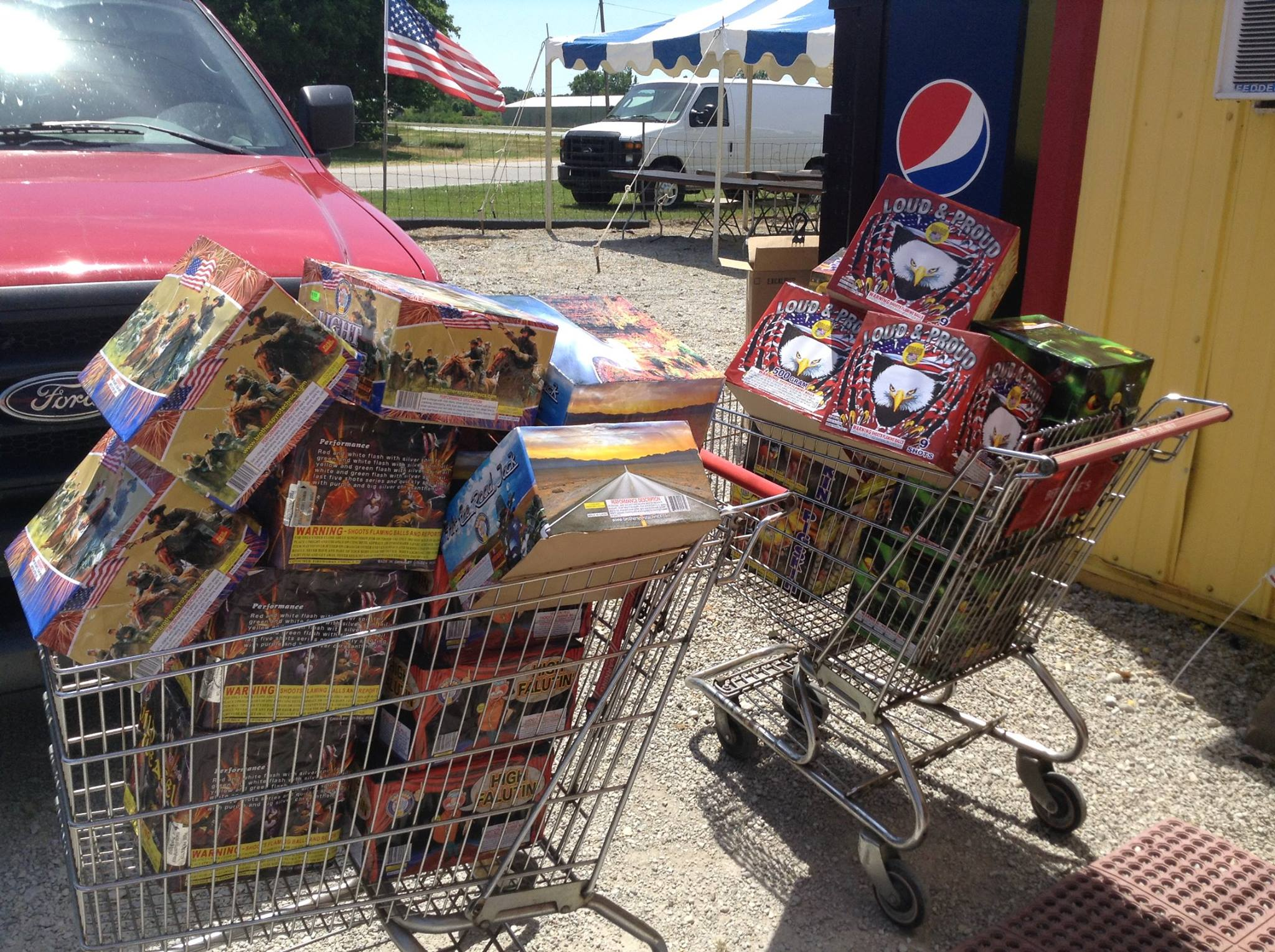 cart of fireworks