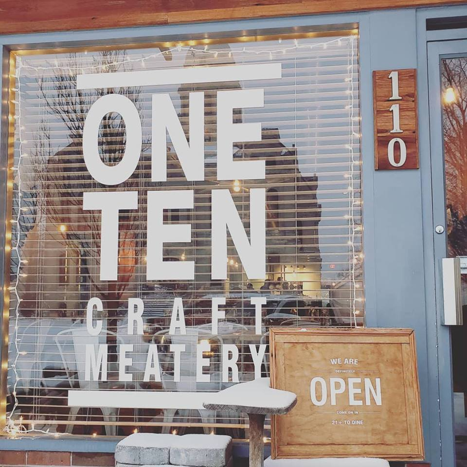 One Ten Craft Meatery front window