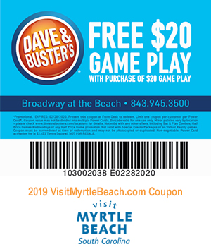 image about Dave and Busters Printable Coupons titled Dave Busters - Cost-free $20 Match Engage in
