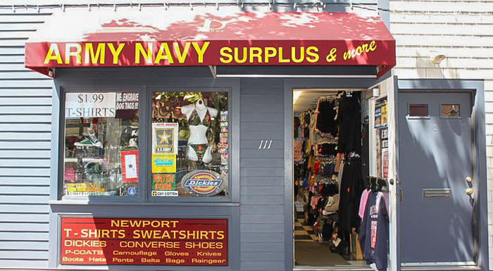 Army Navy Surplus | Newport, RI | Discover Newport