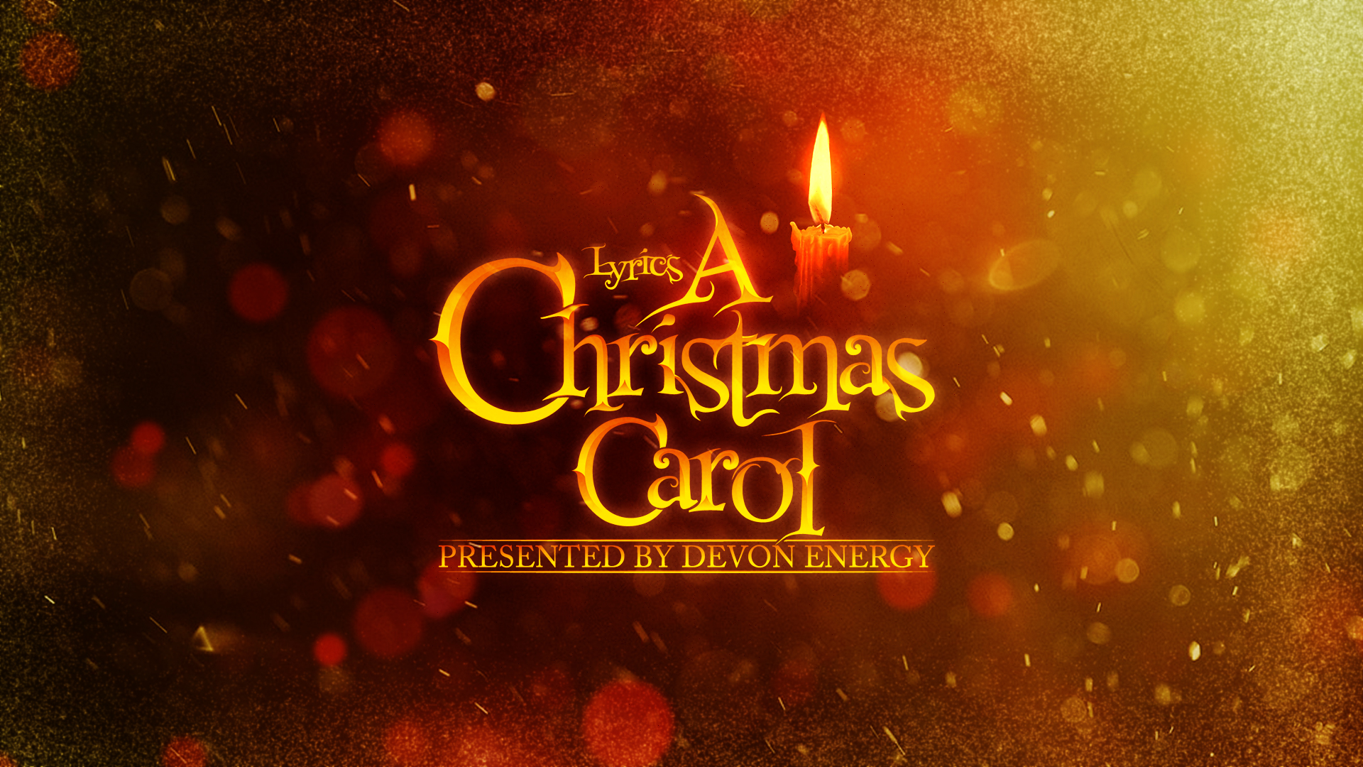 Christmas Graphics 2019.Lyric S A Christmas Carol 2019