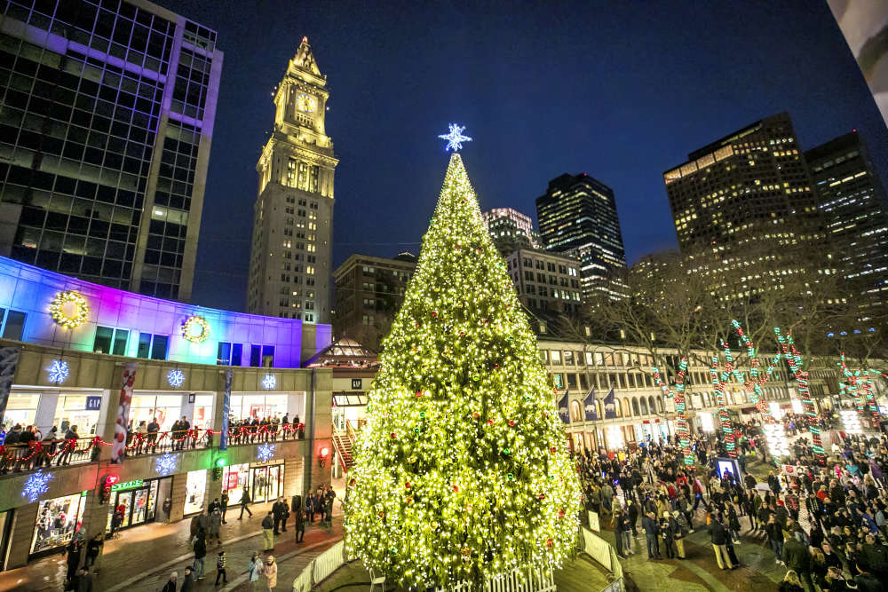 Boston Holiday Lights Trail View The