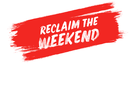 Reclaim the Weekend Paint 2019 Red