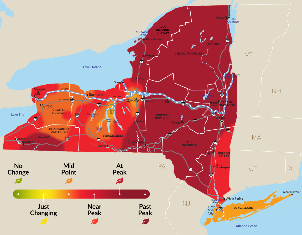 Fall foliage map 2019: Where to see the brilliant colors of ...