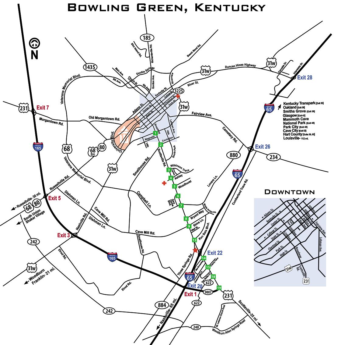 map of bowling green kentucky Maps And Directions Getting Around Bowling Green Ky map of bowling green kentucky