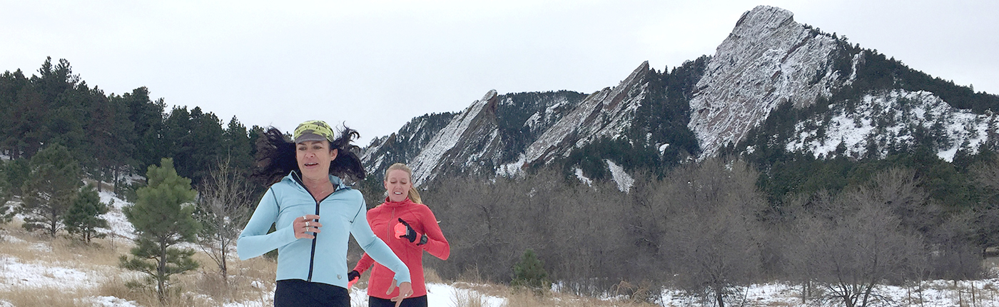 Fit Chick Selene Yeager Running Boulder Flatirons