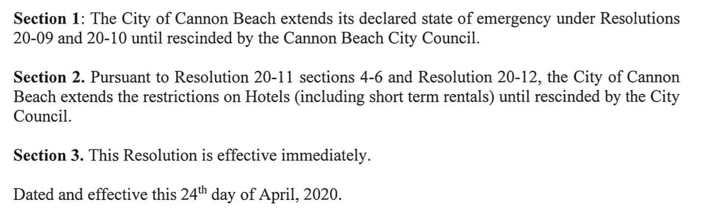 City Resolution 20-16