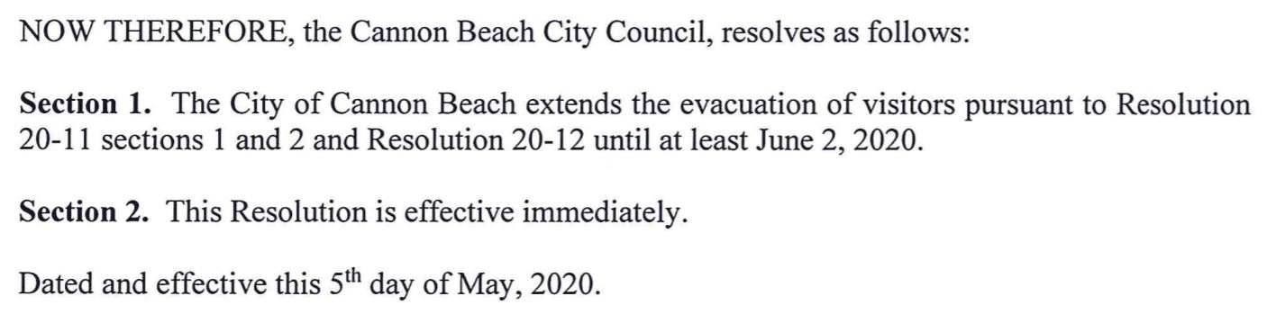 City of Cannon Beach Resolution 20-17