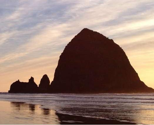 Oregon Coast Haystack Rock In Cannon