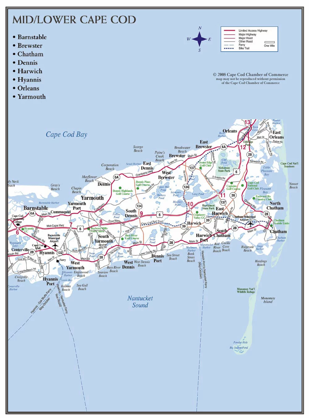 graphic about Printable Map of Cape Cod named Maps