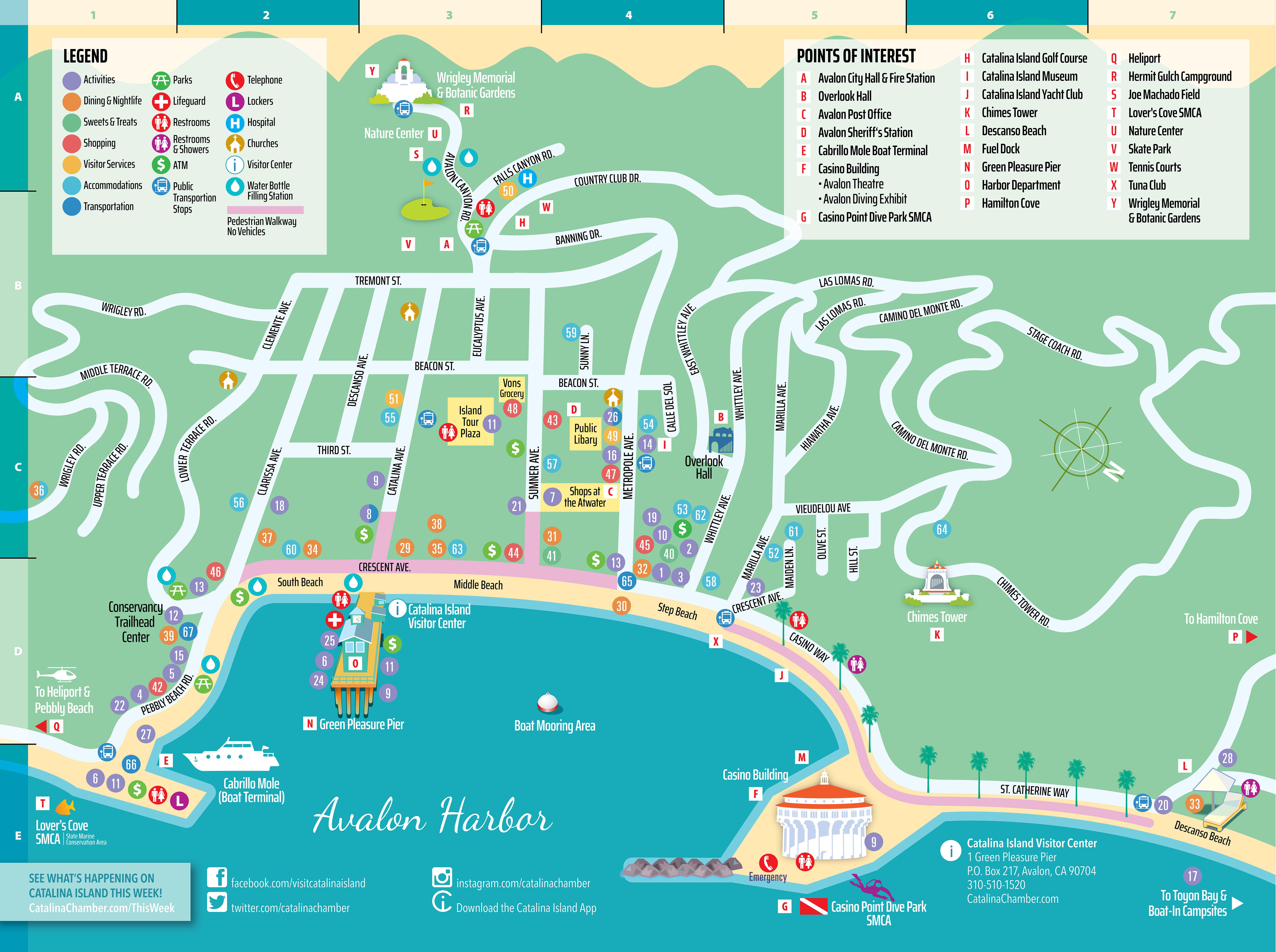 Catalina Island Maps Visit Catalina Island