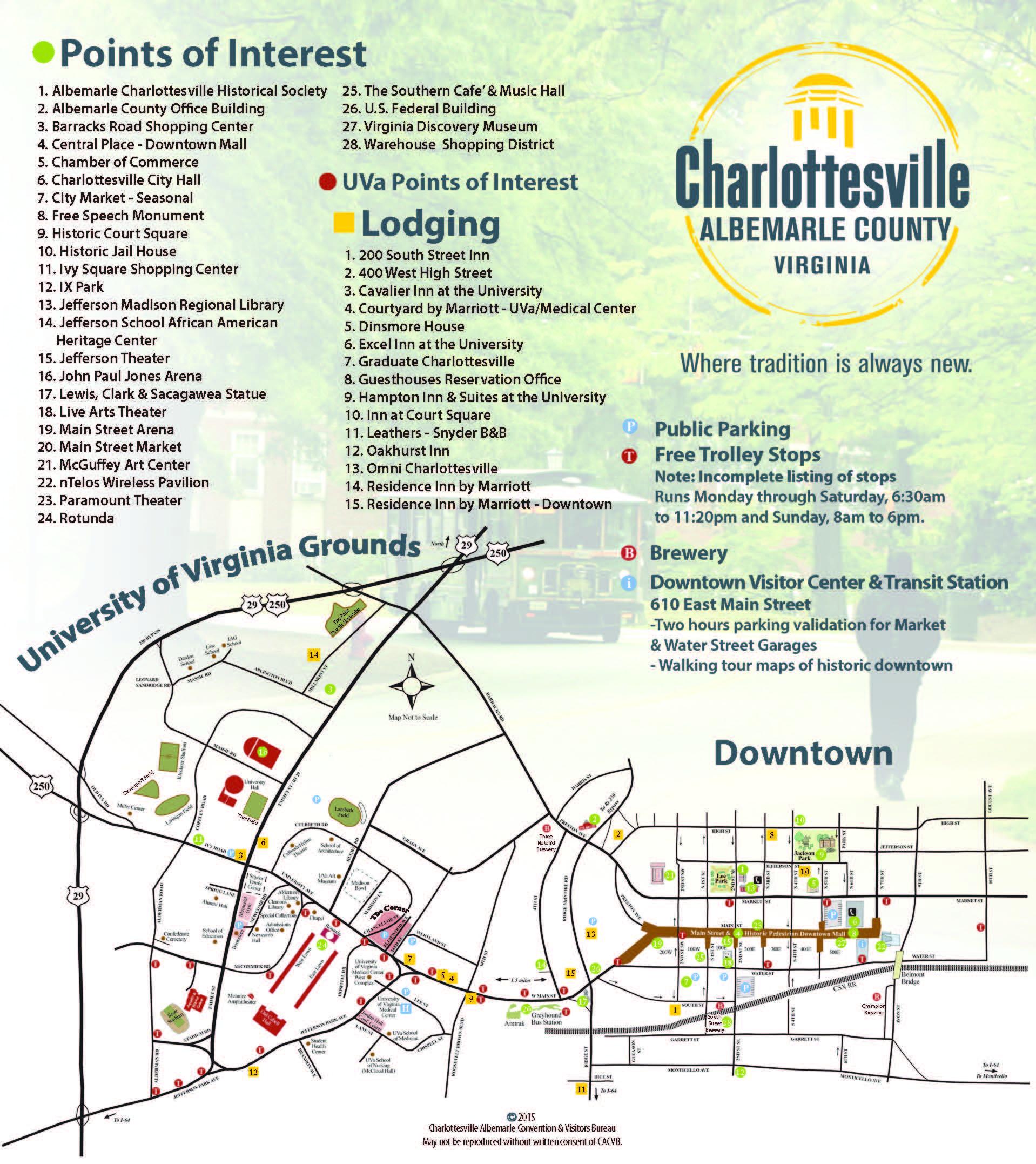 Charlottesville Va Map Charlottesville Area Maps | Visit Charlottesville