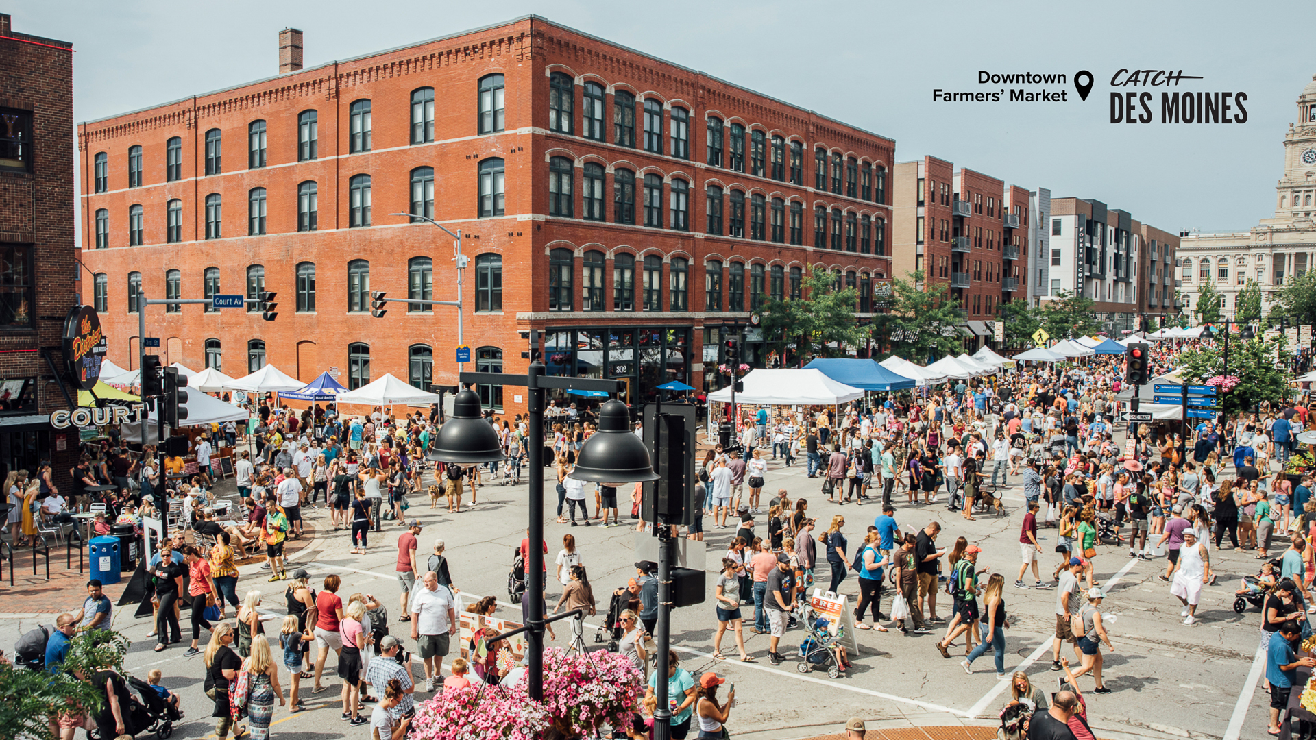Areial View of Downtown Farmers' Market Zoom Background