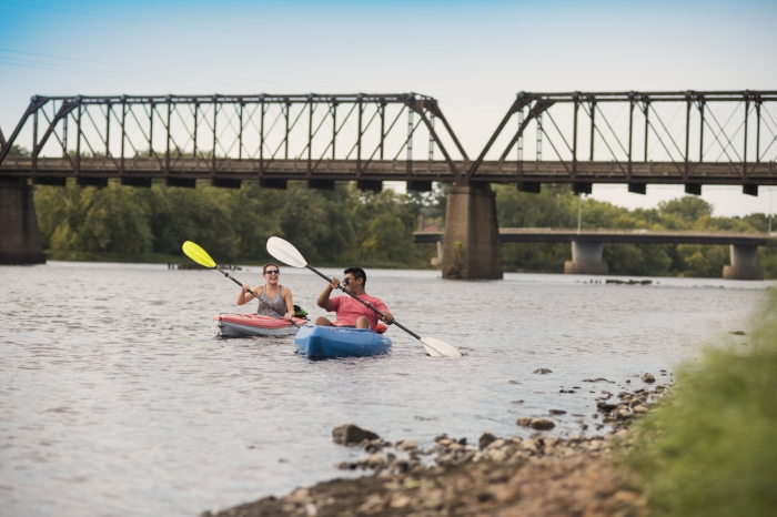 Kayaking on the Chippewa River in Eau Claire