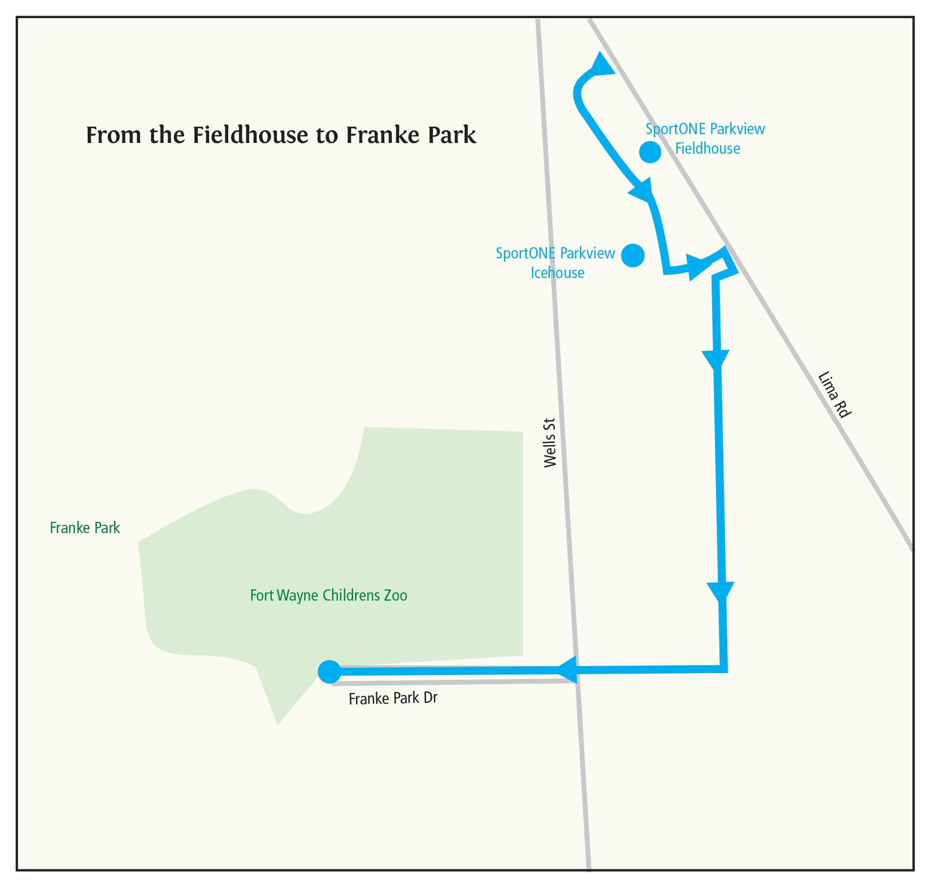 Map Of Wayne County Pa, Fieldhouse To Franke Park Trail Ride Itinerary, Map Of Wayne County Pa
