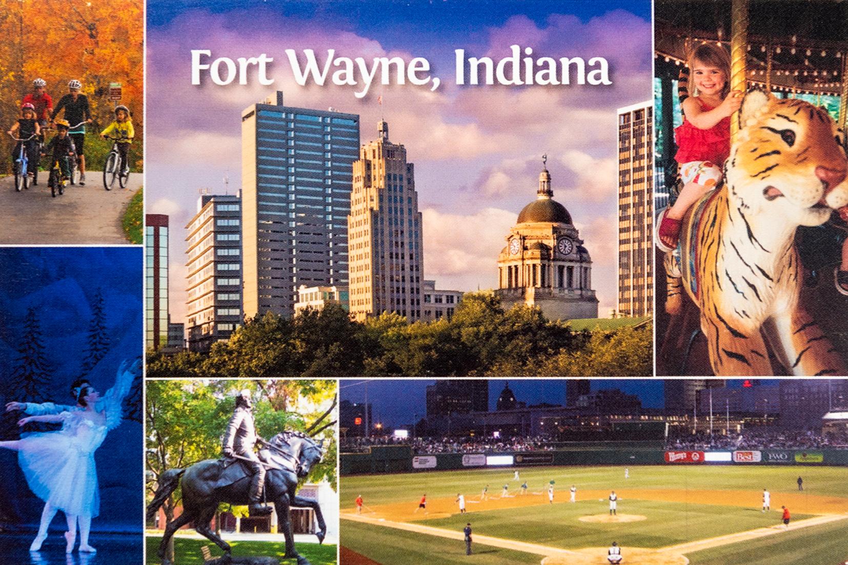 Fort Wayne Collage Postcard