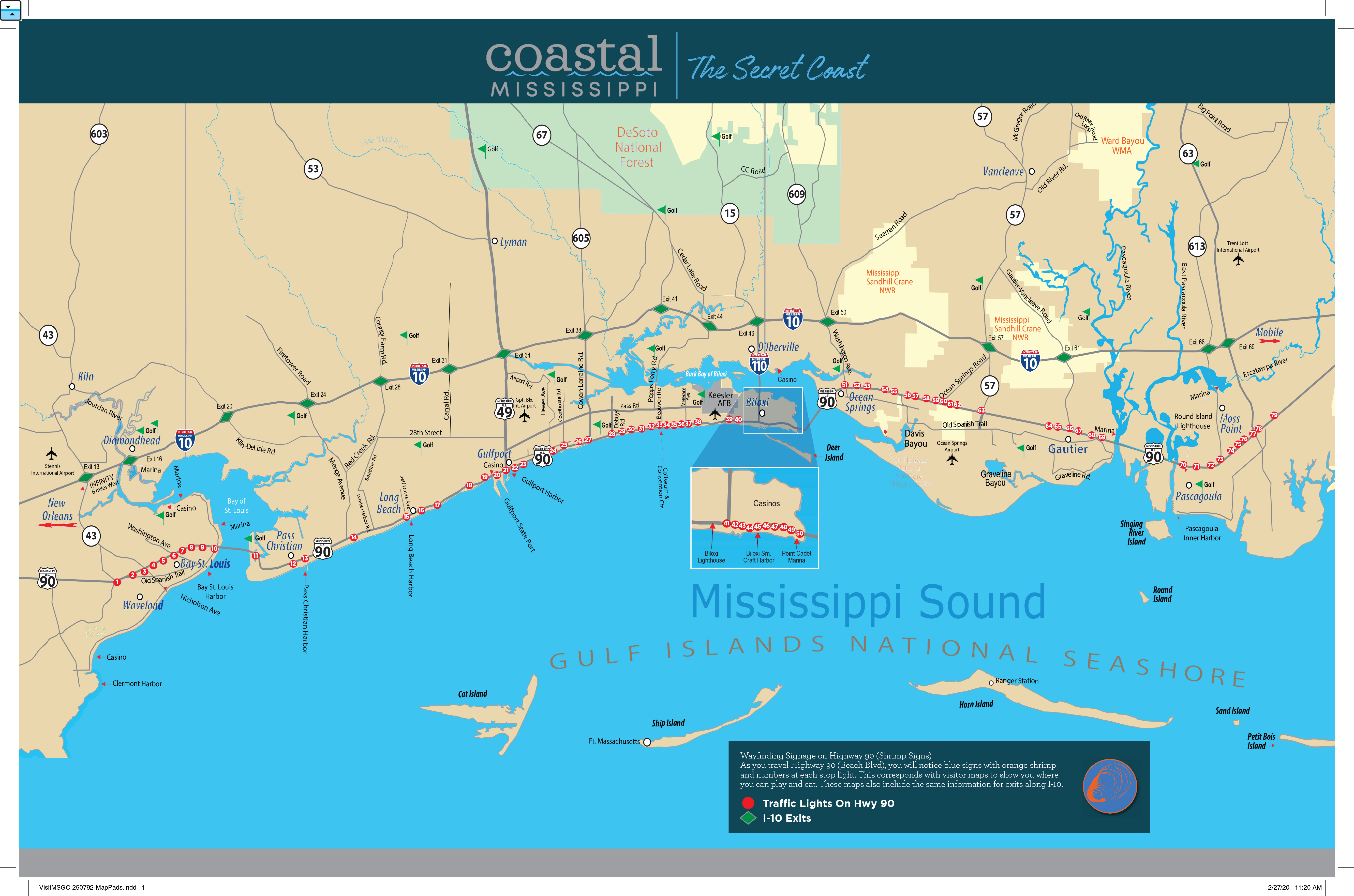 Mississippi Gulf Coast Maps Directions To Coastal Mississippi