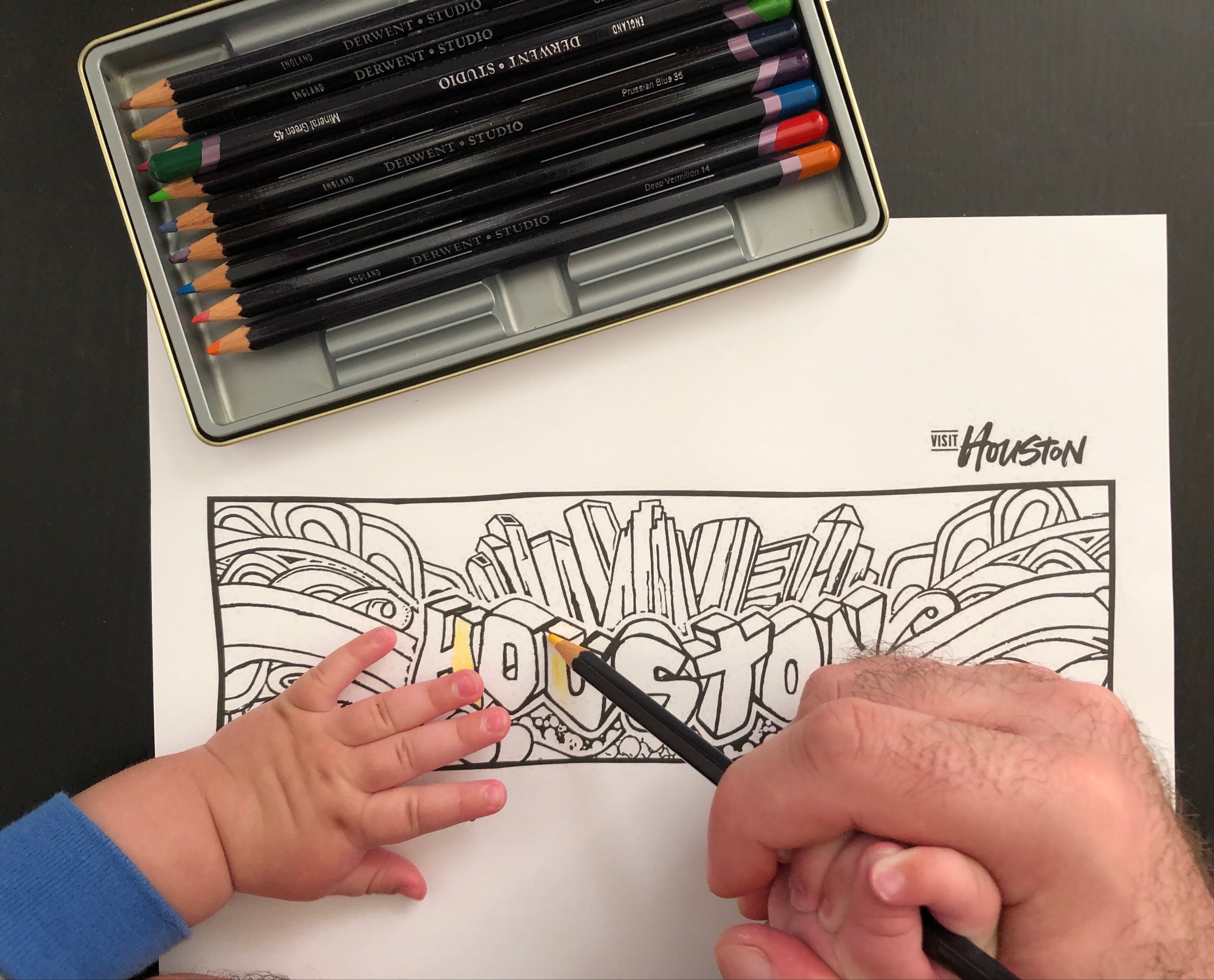Houston Coloring Book