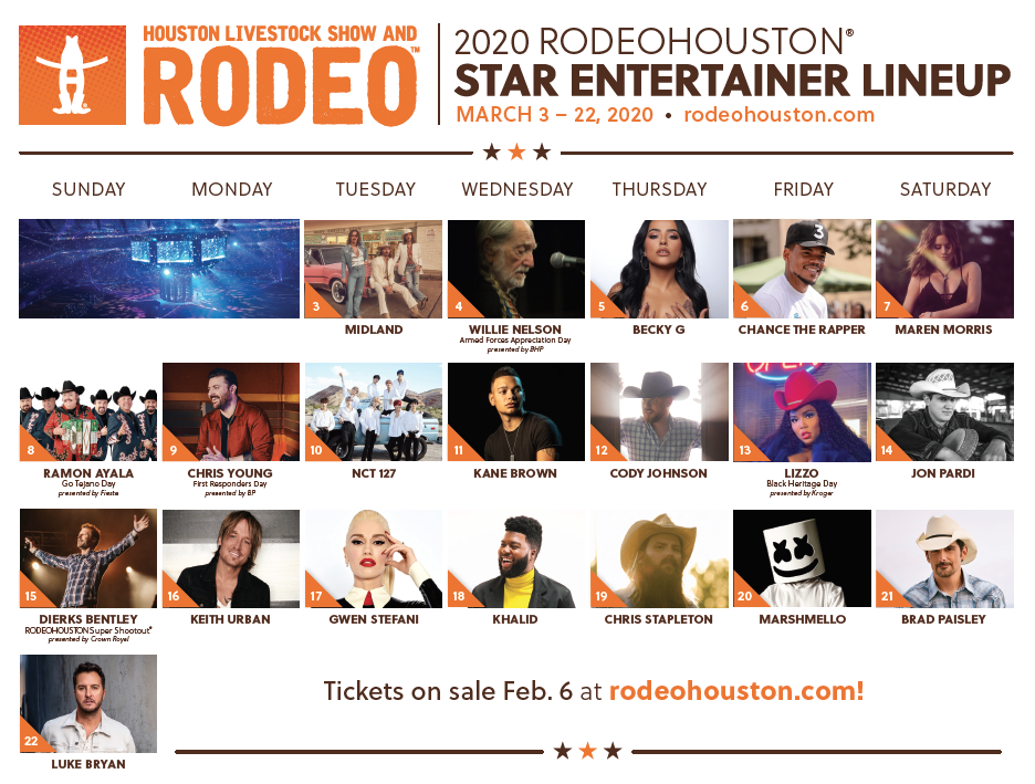Rodeo 2020 Linup