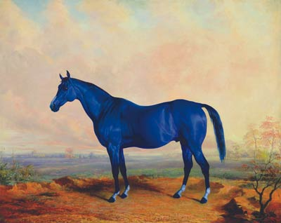 An oil painting of the famous Lexington horse Big Lex