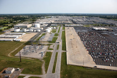 An aerial view of the Toyota Georgetown plant.