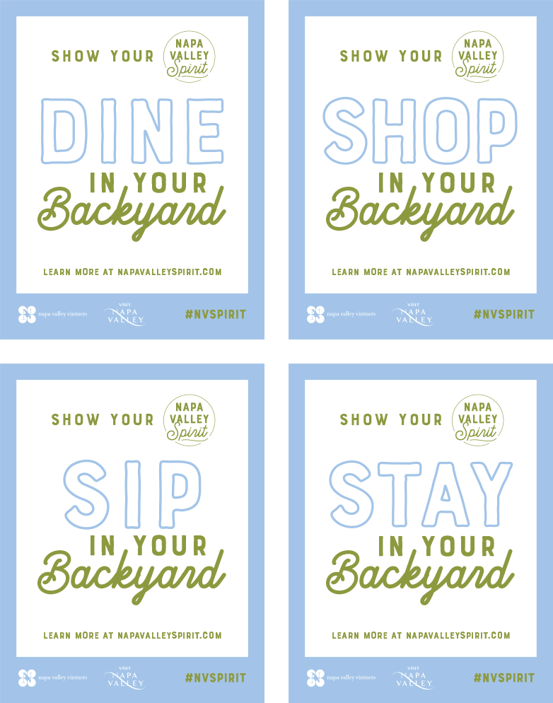 Dine Shop Sip Stay decals