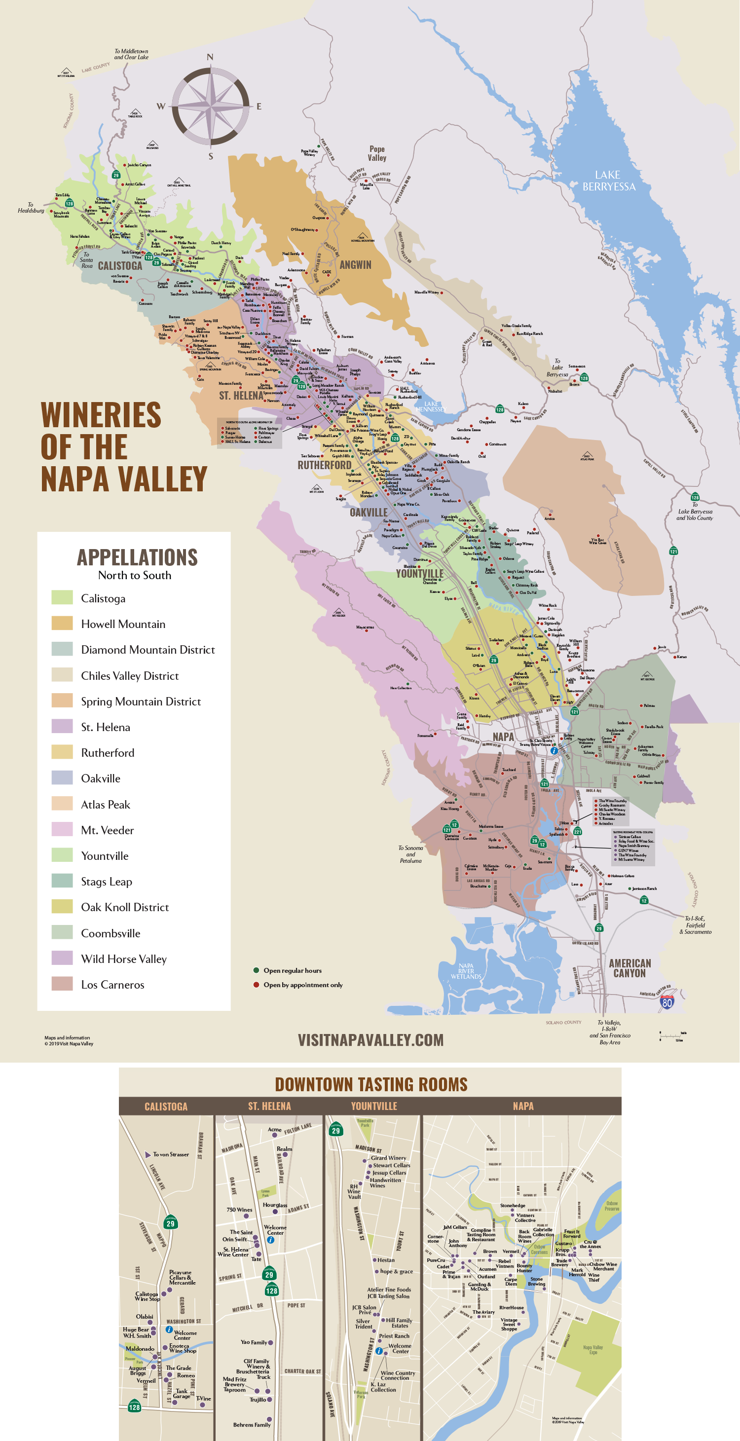 Sonoma Valley California Map.Napa Valley Winery Map Plan Your Visit To Our Wineries