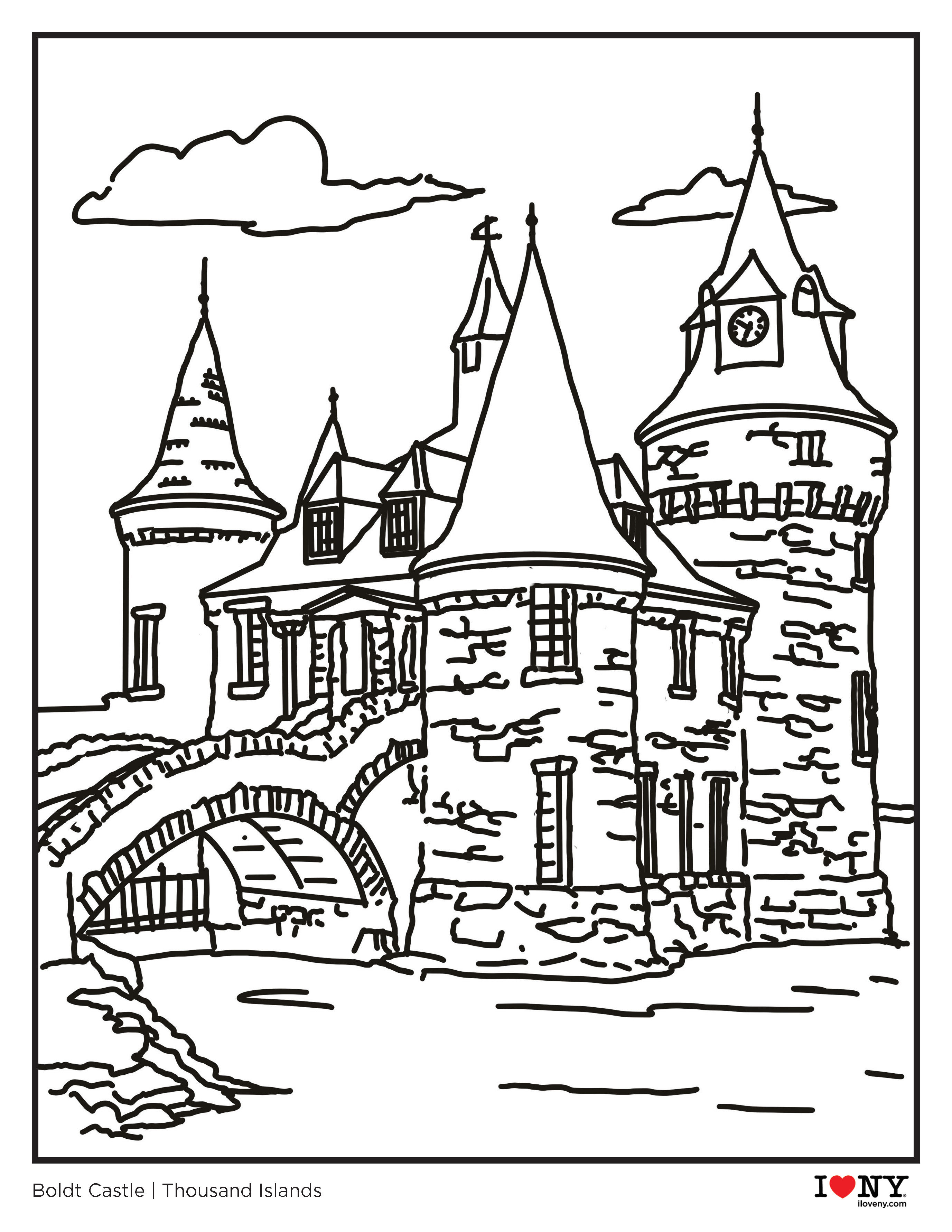 Family Friendly Activities I Coloring Pages From New York State