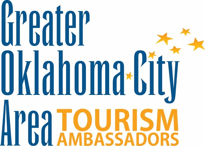 Greater Oklahoma City Area Certified Tourism Ambassadors blue and gold logo