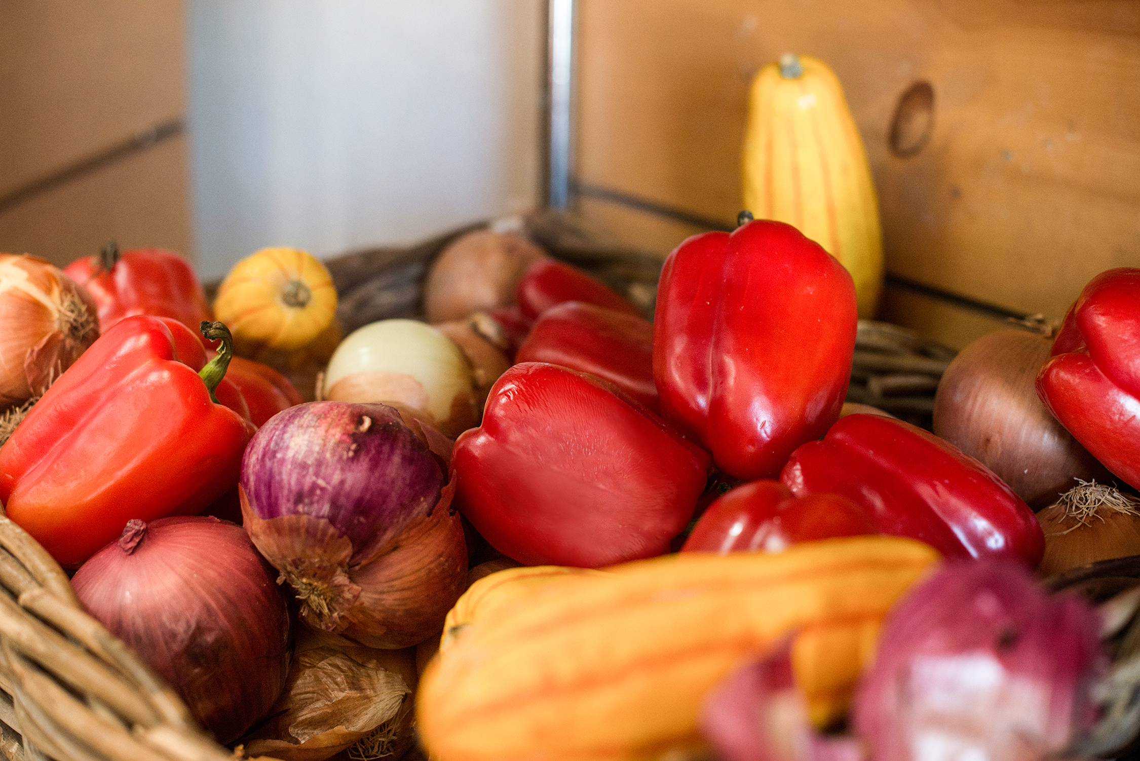 Close up of produce from the Palm Desert Farmer's Market