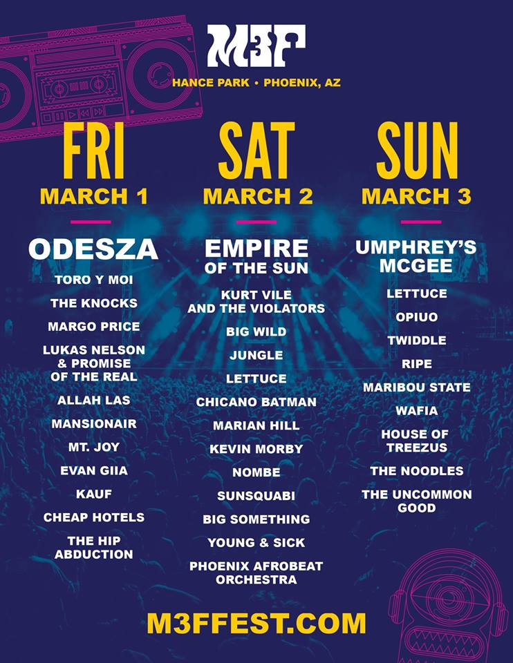 M3F Fest 2019 Daily Lineup