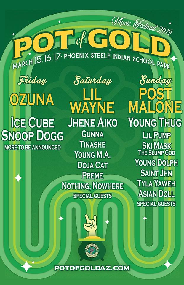 Pot of Gold Music Festival Lineup 2019