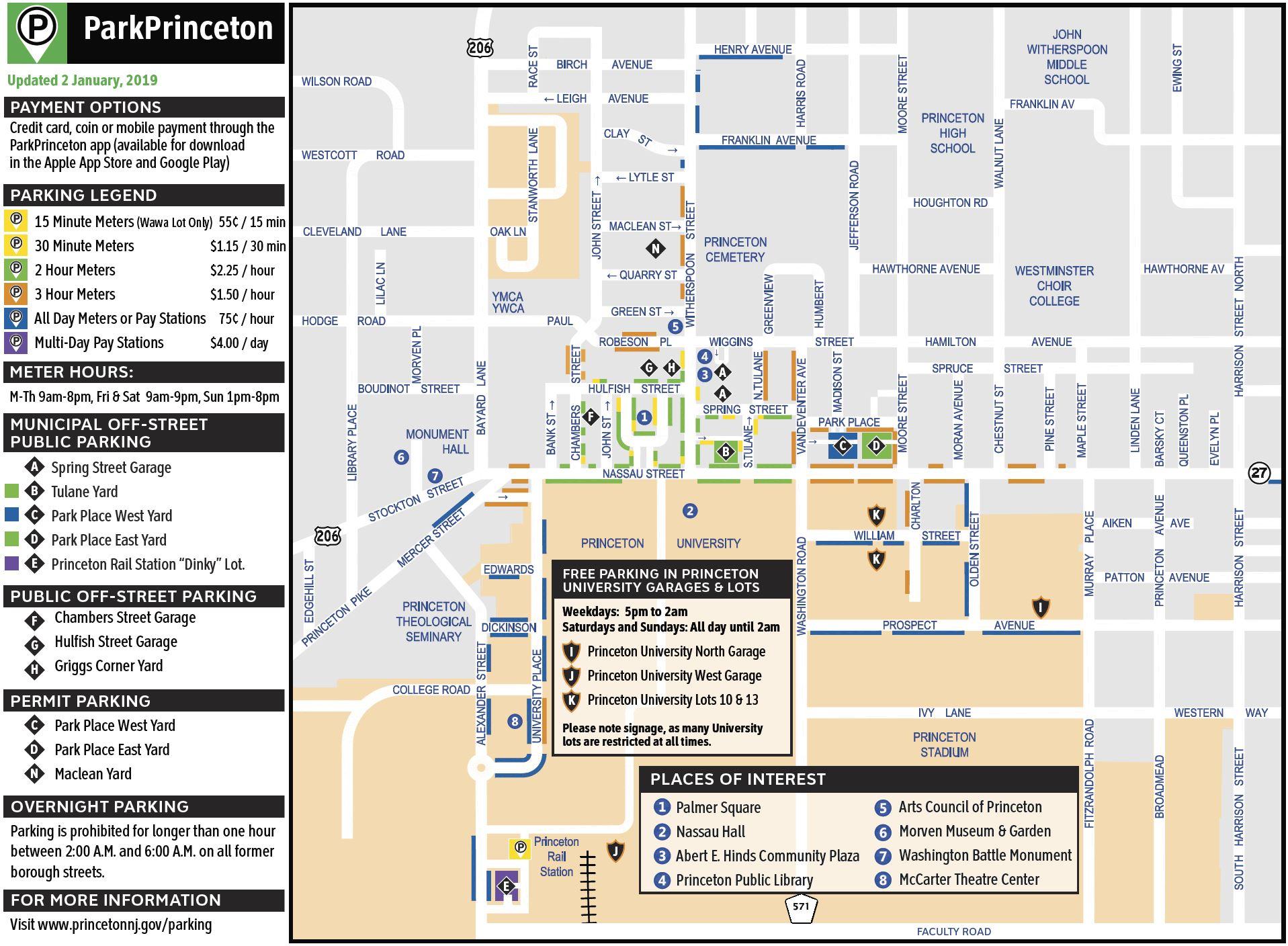 Princeton Parking Map